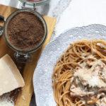 Spaghetti z kurkami i pudrem z kani – patentem, który zmienia życie